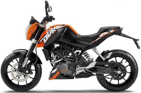 KTM Duke 125 ABS in Orange