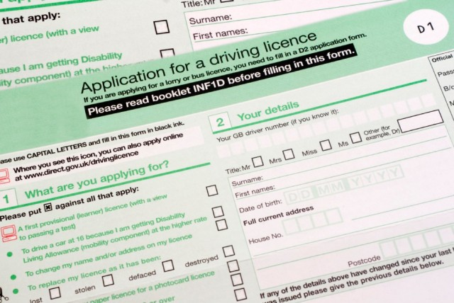 paper driving licence