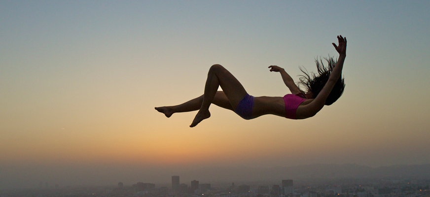 woman falling represents young peoples insurance falls